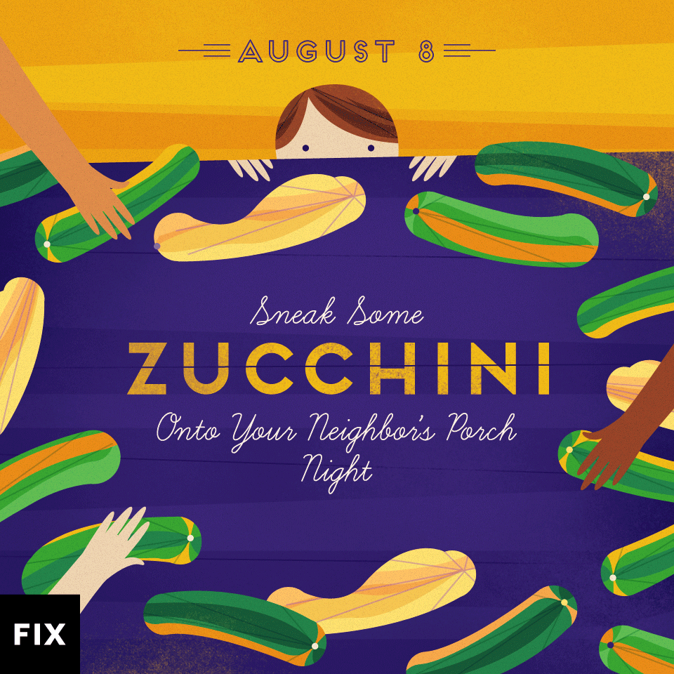 Fix.com is celebrating National Zucchibi Day!