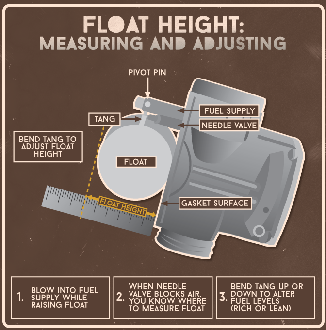 Motorcycle Carburetors | Float Height Setting | Fix com