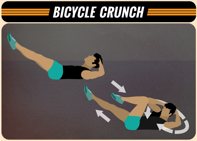 Bicycle Crunches at Home