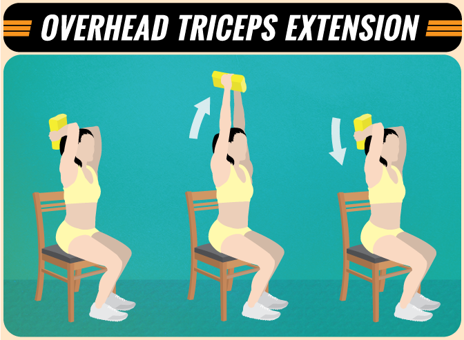 Overhead Triceps Extensions at Home