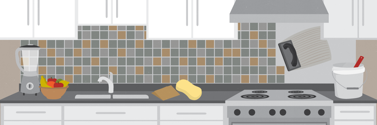 How to tile your kitchen backsplash in one day How to put tile on wall in the kitchen