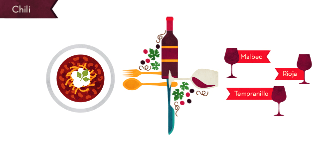 Wine Pairing for Comfort Food: Chili
