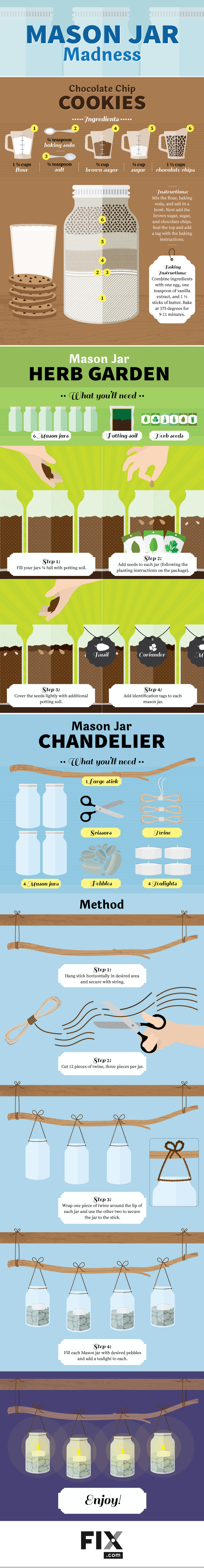 Repurposing Mason Jars [Infographic] | ecogreenlove