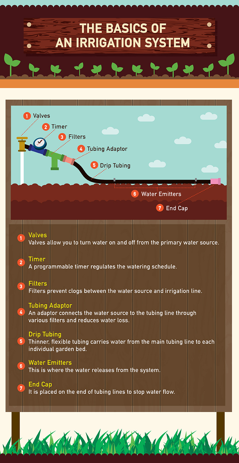 Explains the Basics of and Irrigation System