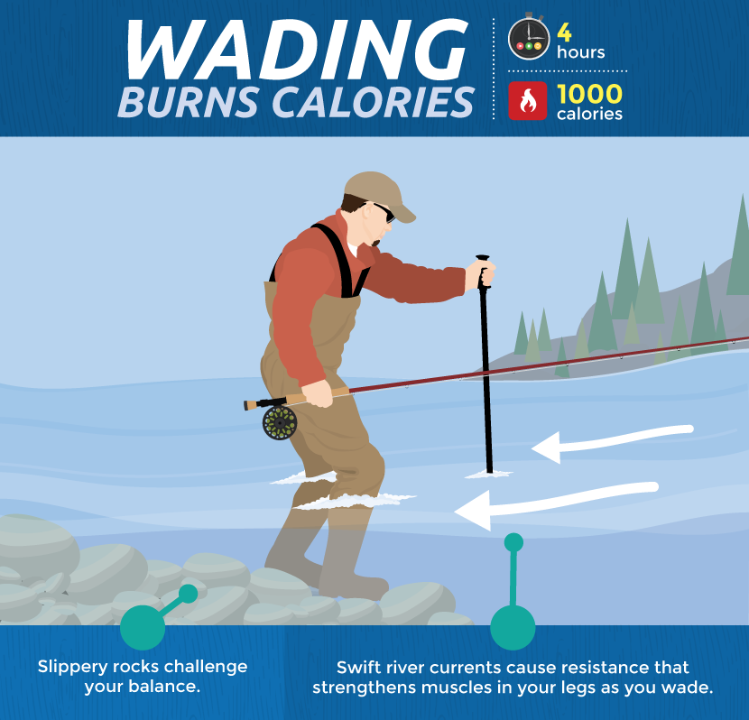 Wading in a Stream Burns Calories