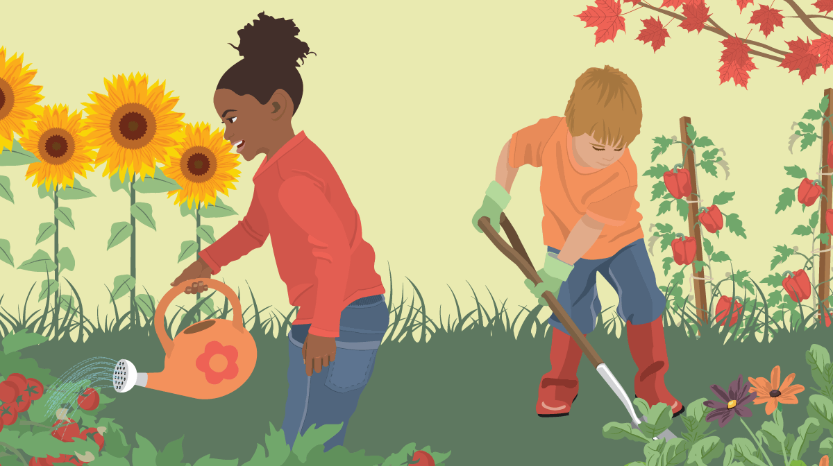 Image result for children gardening