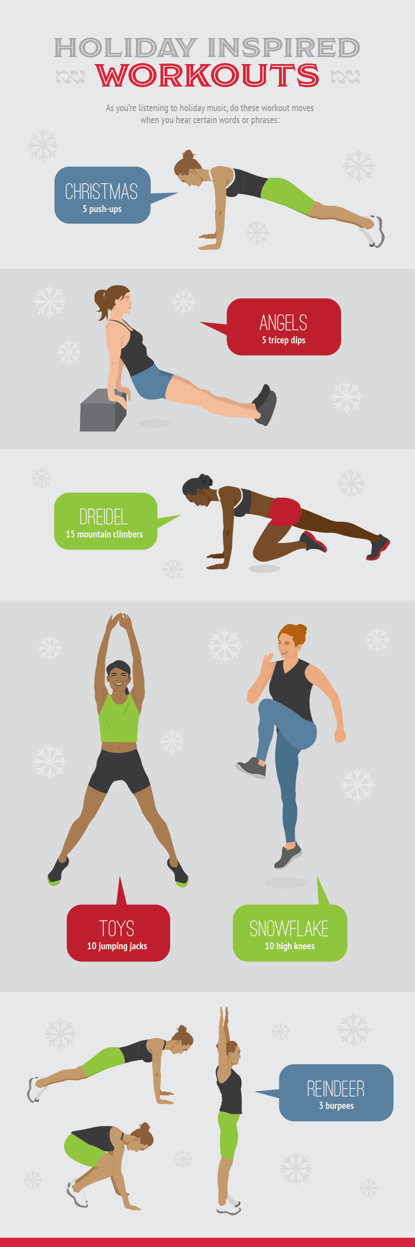 Holiday-Inspired Workouts - Hectic Holiday Guide to Keeping Your Health Goals