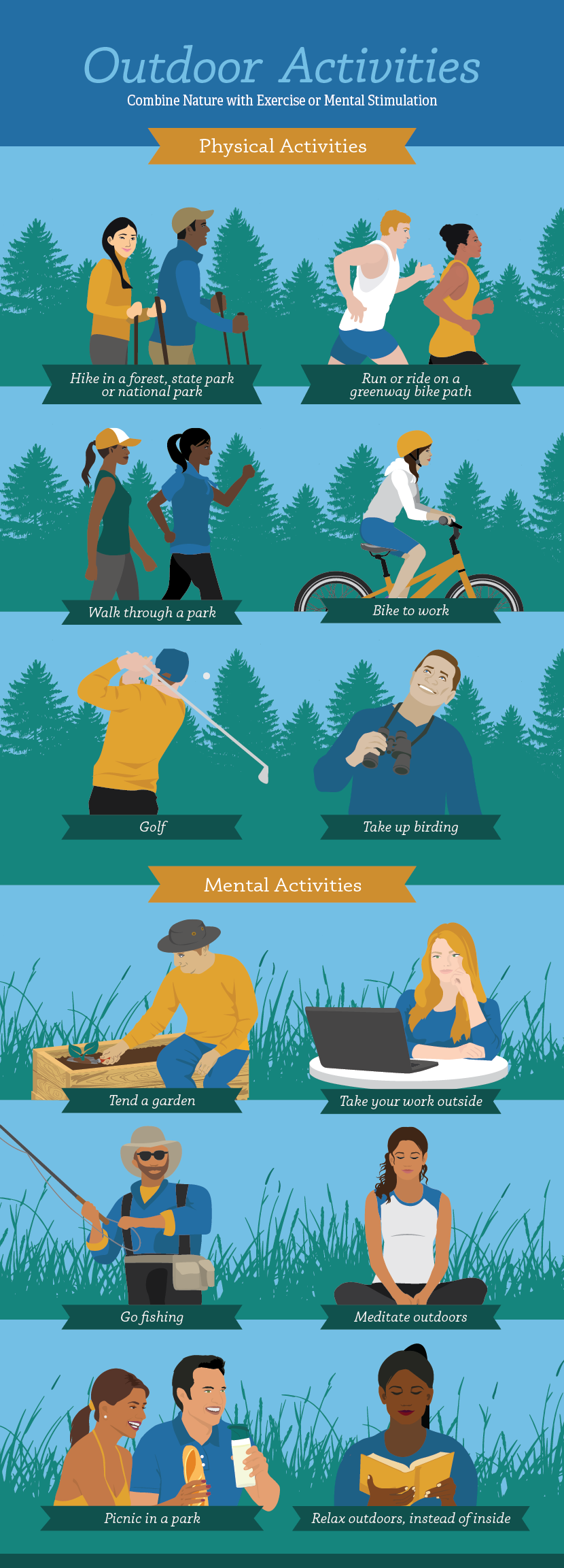 Easy Outdoor Activities - Mental Health Benefits of the Outdoors