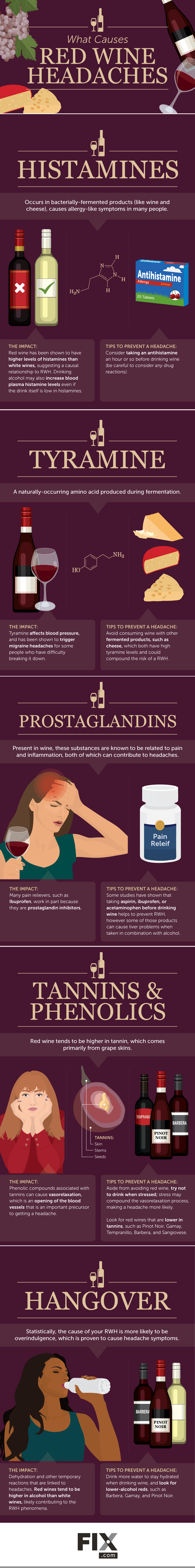 How to Avoid Red Wine Headaches | Fix com