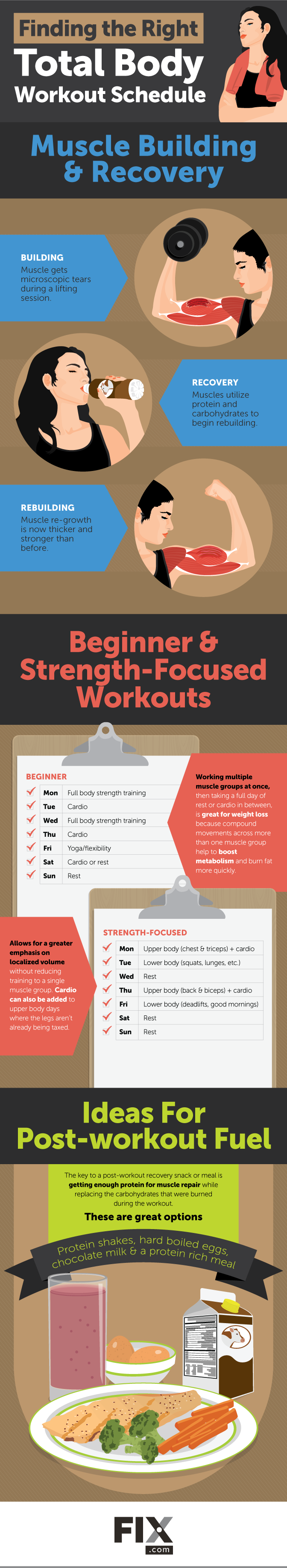 Schedule & Balance your Full Body Workout + Recovery [Infographic] | ecogreenlove